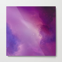 Where Celestial Galaxies Collide Metal Print