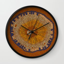 Growing - ginkgo - plant cell embroidery Wall Clock
