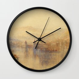 """J.M.W. Turner """"Lucerne from the Lake"""" Wall Clock"""