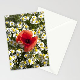 Poppy and the flowers Stationery Cards