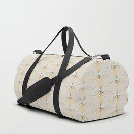 Golden Fan Leaf Art Deco Duffle Bag