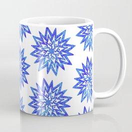 Symmetrical Shapes - Blue Heart Coffee Mug