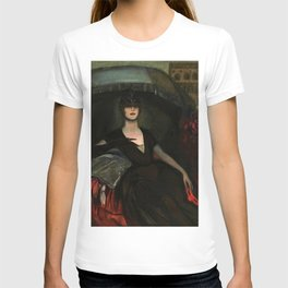 The Masquerade, Carnival, Venice, Italy portrait by Federico Beltran Masses T-shirt