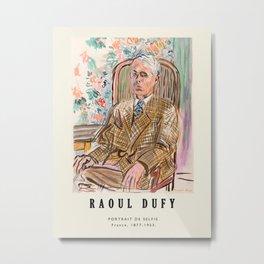 Poster-Raoul Dufy-Portrait de selfie. Metal Print