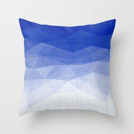 Imperial Lapis Lazuli - Triangles Minimalism Geometry Throw Pillow