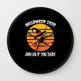 Halloween Basketball mask fun join us Wall Clock