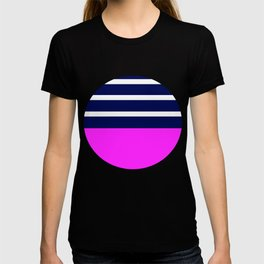 Summer Patio Perfect, Pink, White, Navy T-shirt