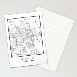 Omaha Nebraska Street Map Stationery Cards