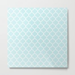 Baby Blue Quatrefoil Metal Print