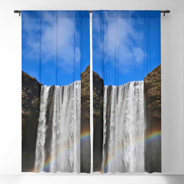 Rainbow loves Waterfall Blackout Curtain