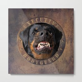 Executive bodyguard Angry rottweiler Metal Print