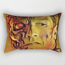 Terminator Artistic Illustration Molten Metal Style Rectangular Pillow