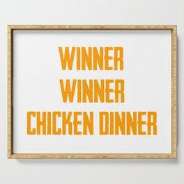 Winner Winner Chiken Dinner Serving Tray