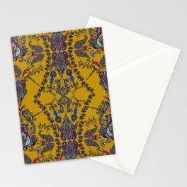 Gold Gipsy Paisley Stationery Cards