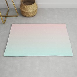 Pastel Ombre Millennial Pink Mint Gradient Rug