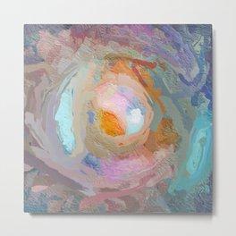 Multi-coloured Abstract Mandala 1663 Metal Print