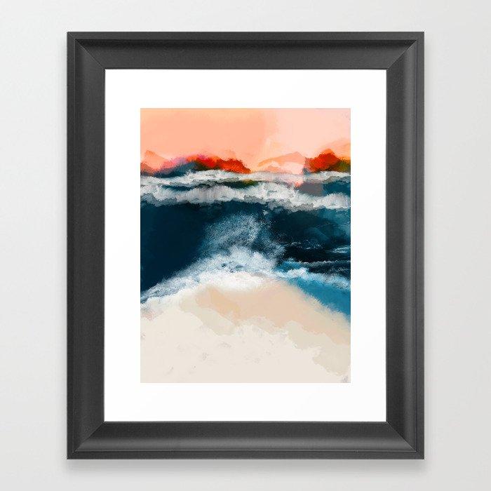 water world Gerahmter Kunstdruck