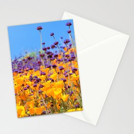 Orange Poppies and Purple Wildflowers with Butterfly (2) by Reay of Light Stationery Cards