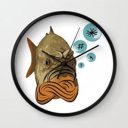 Grumpy fish Wall Clock