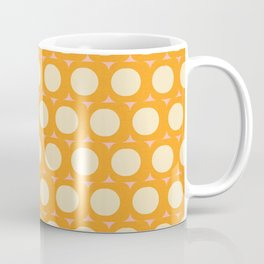 Dots and Triangles Yellow  #midcenturymodern Coffee Mug