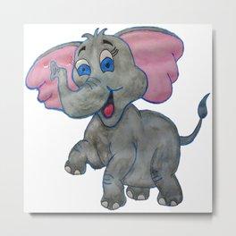 The Happy Elephant Metal Print