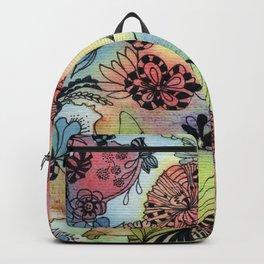 Sweet doodle flowers Backpack