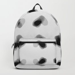 Lots of Hearts - Black and White Backpack