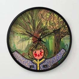 Girl by Wafaa Elgamel Wall Clock