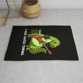 T-Rex Dinosaur Hates Guitar Tuning Rug