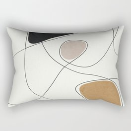 Thin Flow I Rectangular Pillow