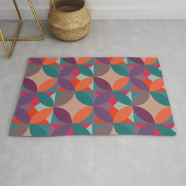 Warm vintage colours pattern Rug