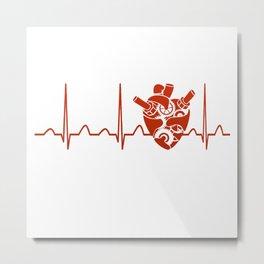 Biomedical Engineer Heartbeat Metal Print