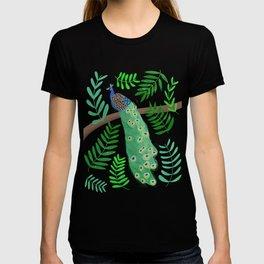 Peacock Paradise in Lemon  T-shirt
