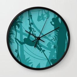 Wild Monkeys Wall Clock