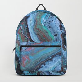 Silvery Green Geode Backpack