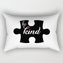 Be kind. Autism awareness gifts. Puzzle piece. Special education Rectangular Pillow