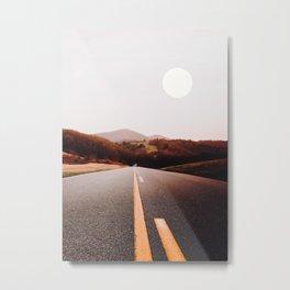 Moon Day Way Metal Print