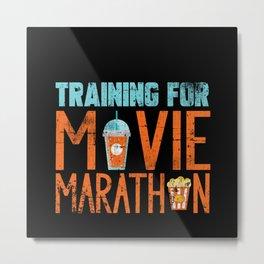 Movie Marathon Metal Print