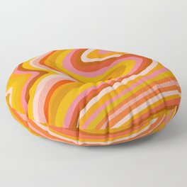 Sunshine Melt – Retro Ochre Floor Pillow