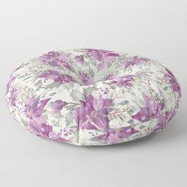 POINSETTIA - FLOWER OF THE HOLY NIGHT 2 Floor Pillow