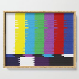 color tv bar#glitch#effect Serving Tray
