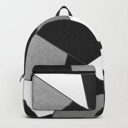Silver Gray Black White Geometric Glam #1 #geo #decor #art #society6 Backpack