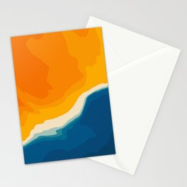 Seascape aerial view Stationery Cards