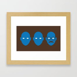 Blue Man Trio Framed Art Print