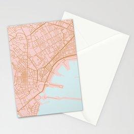 Napoli map Italy Stationery Cards
