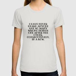 So Many Wrong Things T-shirt
