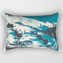 Vintage Ski Aspen Poster Rectangular Pillow