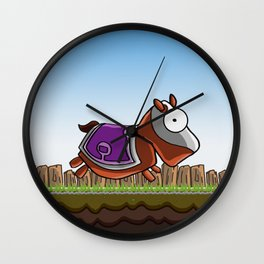 Joust It (Horsey) Wall Clock