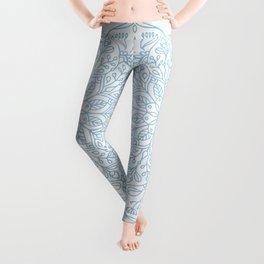 Blue Delicate Nature Mandala Leggings