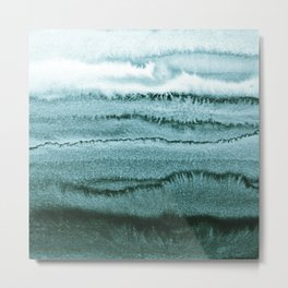 WITHIN THE TIDES - OCEAN TEAL Metal Print